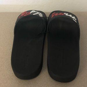 20188af4c28 Tommy Hilfiger Shoes - Tommy Hilfiger Enzo Logo Script Men s Flip Flops